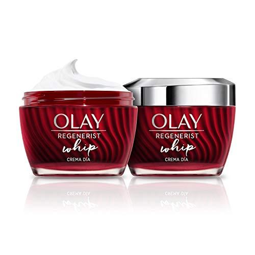 Olay Regenerist Whip Crema Facial De Día Ligera, Pack x 2 Uds, Fórmula Con Niacinamida y Péptidos, 100 ml