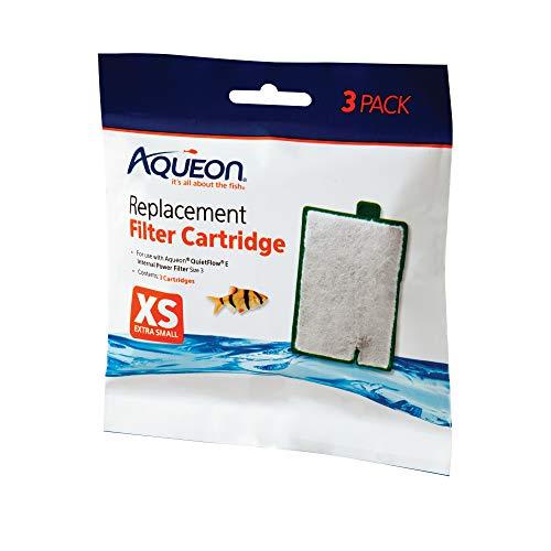 Aqueon 100106415 QuietFlow Filter Cartridge, X-Small, 3-Pack,Black