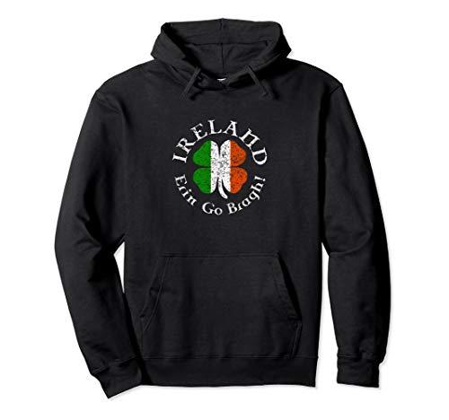 Irland Erin Go Bragh Keltische Klee-Flag Pullover Hoodie