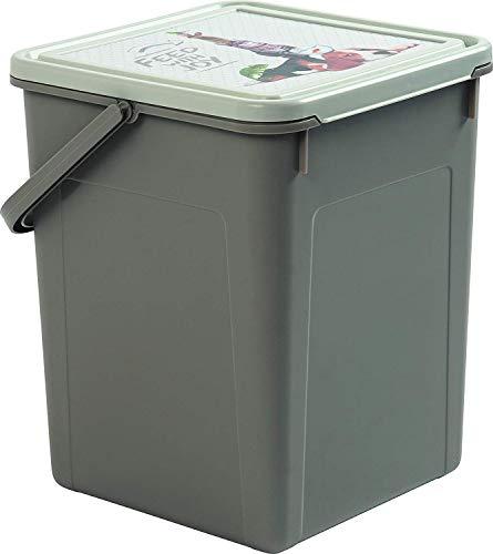 Rotho Fabio Tierfutterbox 9l mit Deckel und Henkel, Kunststoff (PP) BPA-frei, anthrazit/motiv, 9l (23,0 x 22,0 x 28,0 cm)