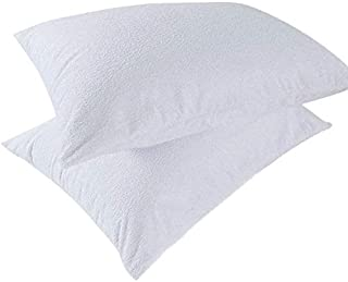 """Set of 2 Bedecor Hypoallergenic Bed Bug Proof Zippered Waterproof Pillow Protector King Size (21"""" x 35"""")"""