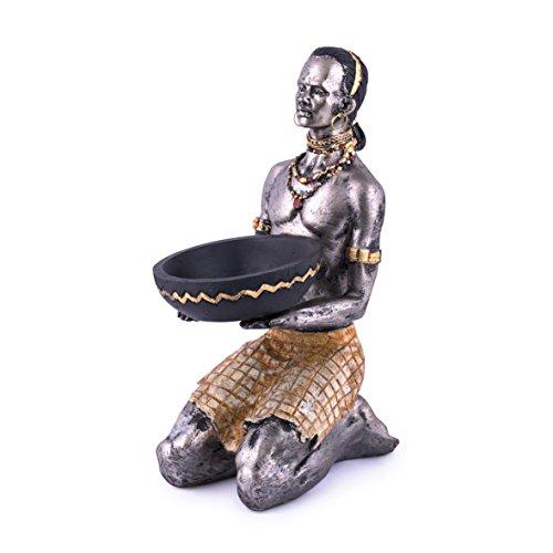 pajoma afrikanische Dekofigur mit Kerzenhalter, H 22 cm