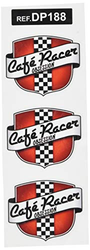 Ecoshirt 3Y-19LG-B20F Adesivi Stickers Cafe Racer Ref: Dp188 Aufkleber Autocollants Adesivi Moto Decals, 5 cm
