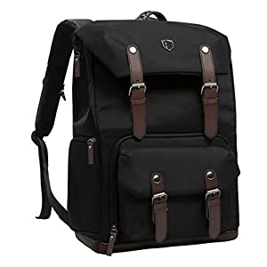 BAGSMART Camera Backpack for DSLR Cameras & 15 inch Macbook Pro