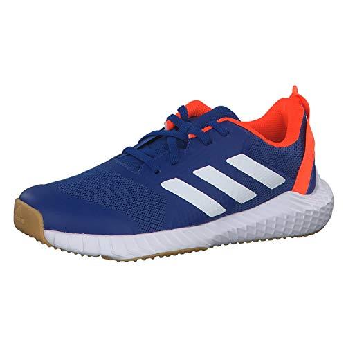 adidas Unisex-Child Fortagym K Indoor Court Shoe, Collegiate Royal/Cloud White/Solar Orange, 36 EU