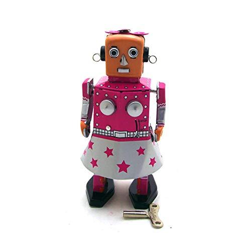 JYJYJY Adornos Estatuas Esculturas Robot Reminiscencia Hierro Sala de Estar Decoración del Dormitorio