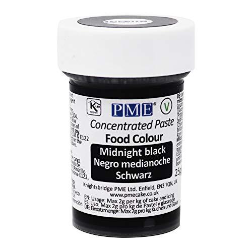 Colorante Alimenticio PME Negro de Medianoche 25 g