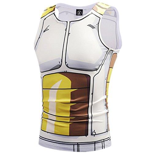 Tsyllyp Men Women Unisex 3D Cartoon Printed Compression Sleeveless Vest Tight Tank Tops