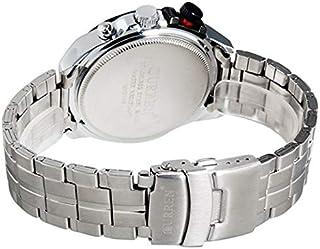 ساعة كورين 8148 للرجال ستانلس ستيل انالوج بعقارب بخاصية عرض التاريخ