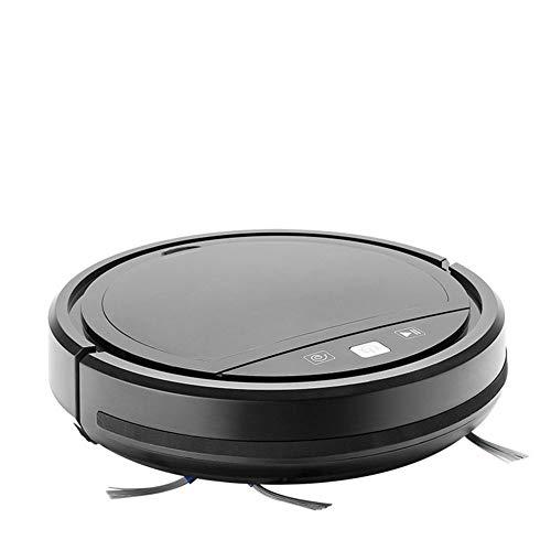 FAGavin Robot aspiradora, Carga automática, bajo Ruido, planificación de Ruta Inteligente con Control Remoto, Robot de Barrido (Color : Black)