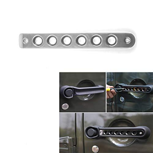 XMA Aluminium Pak Handvat Cover Voordeur & Achterdeur invoert Cover Trim voor 2007-2017 Wrangle JK Onbeperkt Accessoires Chroom (1PC)