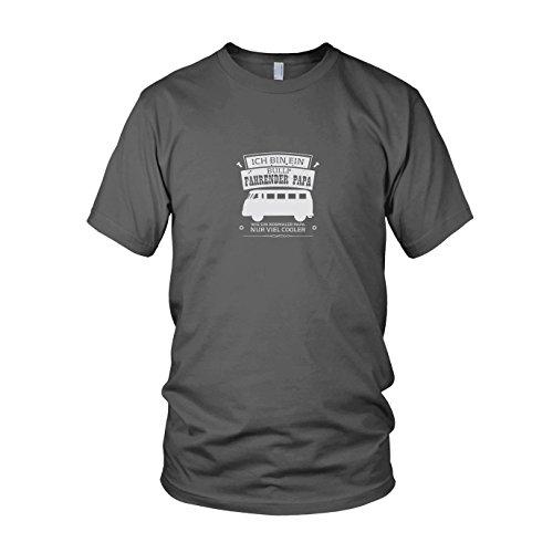 Ich Bin EIN Bulli Fahrender Papa - Herren T-Shirt, Größe: M, Farbe: grau
