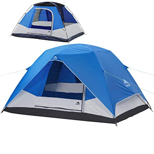 Camping Tent 4 Person Dome Tent 9'X7'X55'' Waterproof Easy Setup Family Tent for Outdoor Camping Hiking & Traveling