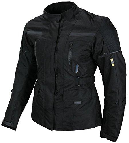 Heyberry Textil Damen Motorradjacke Lang Schwarz Gr. M