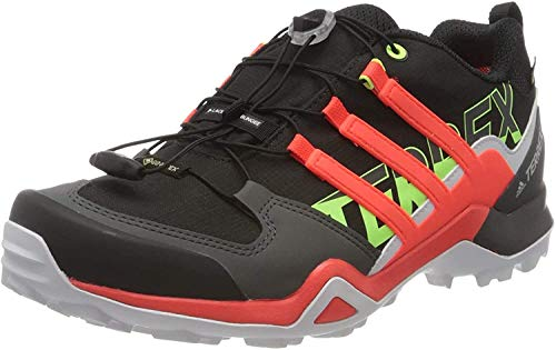 adidas Mens Terrex Swift R2 GTX Walking Shoe, Core Black/Solar Red/Signal Green, 44 EU