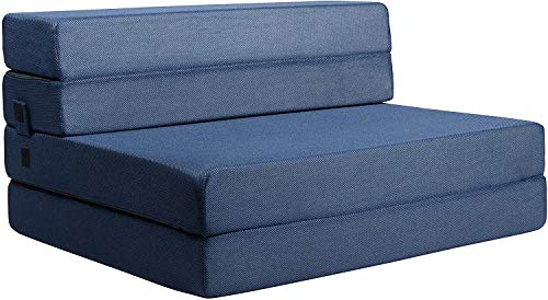 Milliard Tri-Fold Foam Folding Mattress and Sofa Bed for Guests (Twin XL)