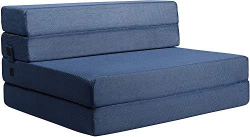 Milliard Tri-Fold Foam Folding Mattress and Sofa Bed for Guests (Twin_XL)