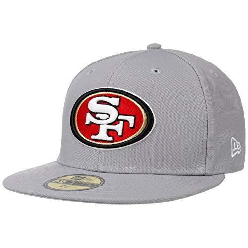 New Era 59Fifty GCP 49ers 1 Cap Basecap Baseballcap Flat Brim NFL-Cap Fitted San Francisco (7 1/2 (59,6 cm) - hellgrau)
