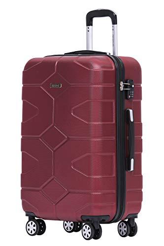 BEIBYE - TSA Schloß 2035 Hartschale Reisekoffer Koffer Handgepäck Trolley (Weinrot, XL)