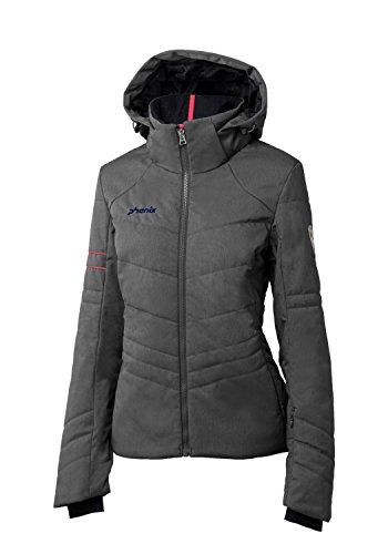 Phenix Damen Powder Snow Jacket Skijacke, Heathered Grey, 36