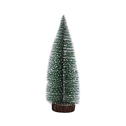bismarckber Mini-Baum, künstlicher Schnee, Frost, Sisal-Kiefer mit Holzsockel, Ornament, Tisch-Bäume, Winter, Basteln, Miniatur-Weihnachtsbaum für Weihnachten, Heimdekoration, 30 cm