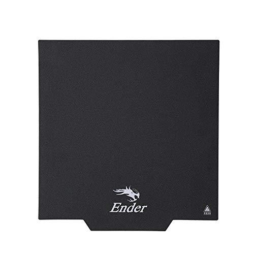 Creality 3D Ender-3 Compatibilidad magnética Placa de superficie Placas adhesivas Impresora 3D extraíble Cubierta de cama con calefacción 235*235mm para Ender-3/Ender-3S/Ender-3 pro/CR20 Impresora 3D