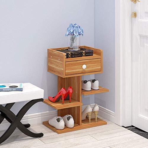 LHQ-HQ Zapatero de tres capas simple para ahorrar espacio en el hogar, gabinete de zapatos para la familia, puerta de dormitorio, zapatero pequeño, 24 x 40 x 47,5 cm, zapatero