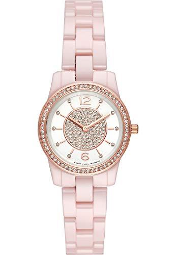 Michael Kors Damen Analog Quarz Uhr mit Edelstahl Armband MK6622