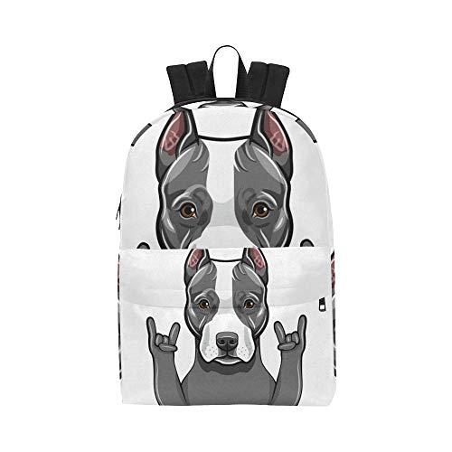 Rock Geste Rap Funny Dog Klassiker Niedlich wasserdichte Laptop Daypack Taschen Schule College Kausal Rucksäcke Rucksäcke Bookbag Für Kinder Frauen Und Männer Reisen Mit Reißverschluss