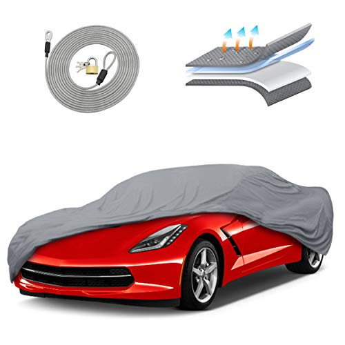 Motor Trend OC743 7 Layer Series Ultra Protect Outdoor Car Cover Custom Fit for Chevrolet Corvette 1984-2019 Tight Seal Waterproof All Weather