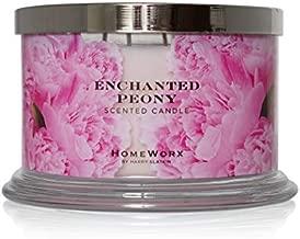 HomeWorx by Harry Slatkin 4 Wick Candle, 18 oz, Enchanted Peony