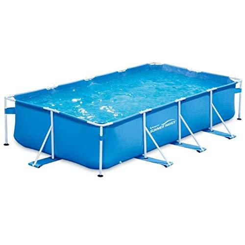 Summer Waves - Piscine Tubulaire rectangulaire - 4,57x2,13x0,84 m - Bleue