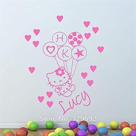 Vinilos Hello Kitty Pared.Amazon Es Hello Kitty Obras De Arte Y Material Decorativo