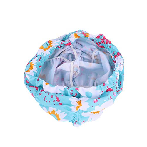 CLISPEED Femmes Bonnet de Bain Étanche Dentelle Fleur Bonnets de Bain pour Les Cheveux Longs Garder Les Cheveux Secs Accessoires de Natation 2 Pcs Bleu