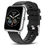 Canmixs Smartwatch Orologio Uomo Donna Fitness Watch con Saturimetro (SpO2)/Misuratore Pressione/Cardiofrequenzimetro da Polso Contapassi Touch Digitale Activity Tracker Impermeabile Android iOS