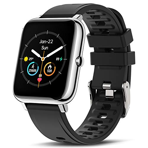 CanMixs Smartwatch Reloj Inteligente Hombre Mujer niños, Pulsera de Actividad Inteligente Impermeable IP67 con Monitor de Sueño Contador de Caloría Pulsómetros Podómetro para Android iOS