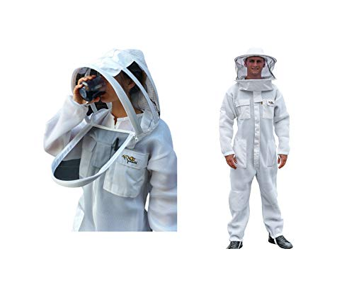 OZ ARMOUR Beekeeping Suit Ventilated Air Mesh with Fencing & Round Brim Hat (XXX-Large)