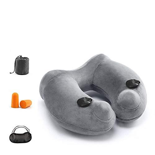 Opblaasbaar nekkussen, wasbaar, reiskussen, geschikt voor reizen, geschikt voor het lezen van nekkussen, ergonomisch kussen