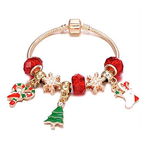 Oinna 1 pulsera de Navidad, colgante de árbol de Navidad, decoración de regalo de Navidad disponible en diferentes tamaños (verde).