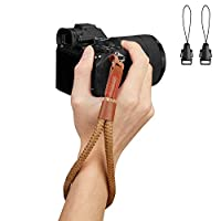 WANBY カメラソフトコットンハンドリストストラップ、ビデオカメラコンフォートアンチスリップセキュリティリストストラップ 適用されます,一眼レフカメラ、DV、一眼レフカメラ、デジタルカメラ、ビデオカメラやスマートフォン (ブラウン)