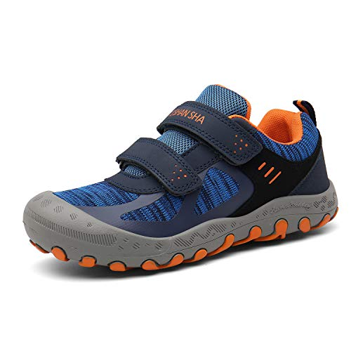 Mishansha Hiking Shoes for Kids Mesh Knit Sneakers Outdoor Trekking Walking Trail Running Shoe Blue Little Kid 12.5