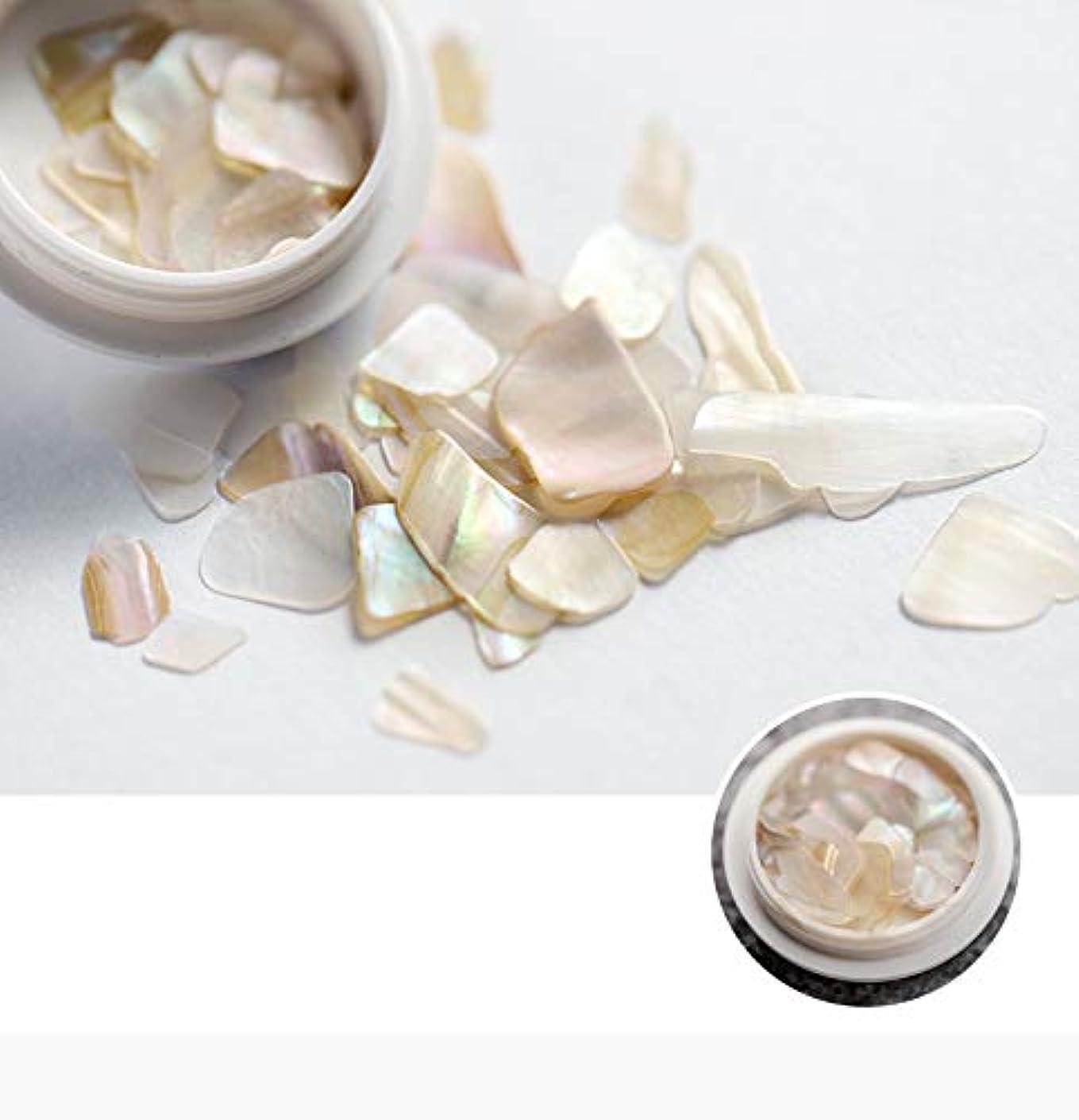 実り多いかわいらしい研磨剤ネイル石パーツ ネイル貝殻風 シェル 貝 レジン ジェルネイル ネイルアート ネイルパーツ (6)