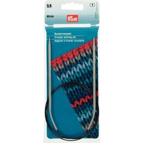 Prym Circular Knitting Needle, Aluminium, Grey, 3.5 mm