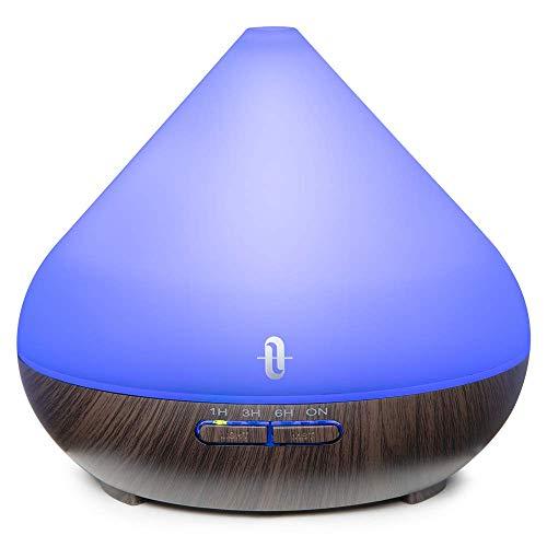 TaoTronics Aroma Diffuser mit Patentiertem Ölflusssystem 300ml Luftbefeuchter Raumbefeuchter Diffusor BPA-Free Humidifier für ätherische öle für Yoga Salon Spa Wohn- Schlaf- Bade- oder Kinderzimmer