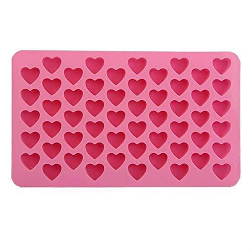 Tapetes Para Hornear Molde de corazón silicona hielo cubo bandeja de chocolate fondant moho 3d pastelería jalea galletas hornear pastel de hornear herramientas de decoración