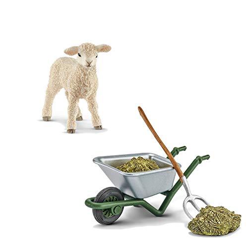 Farm World Schleich 13883 Lamm + 42290 Stallpflege auf dem Bauernhof