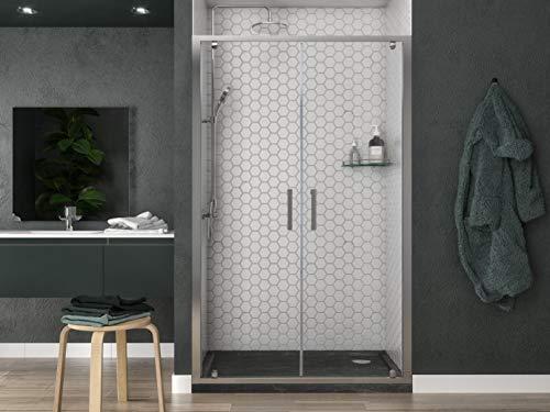 Box doccia Porta doccia 120 cm doppia ante battente per nicchia apertura saloon altezza 190 cm profilo cromato cristallo trasparente anticalcare 6 mm (116-121 cm)