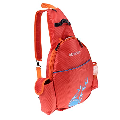 Hellery wasserdichte Tennisschläger Rucksack Tasche Badminton Rucksack Sporttasche - Orange