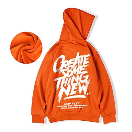 Sweat-Shirt Pull Oversize Plus de Velours Hommes Plus Gras Plus Dalian Chapeau de Sport lâche Hip-hop Automne Oversize et d'hiver vêtements for Hommes (Color : Purple, Size : 4XL/180)