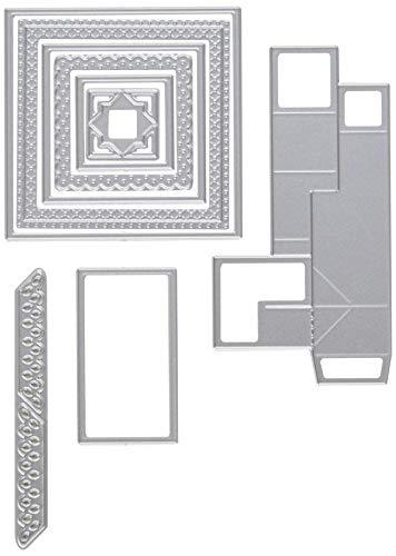 KB RILEY LLC 1042 KB Riley Stanzschablonen, quadratisch, grau, Einheitsgröße